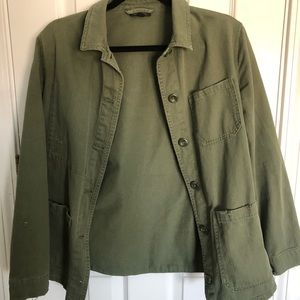 Topshop army green blazer